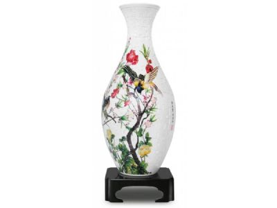 3D Vase Birds and Flowers