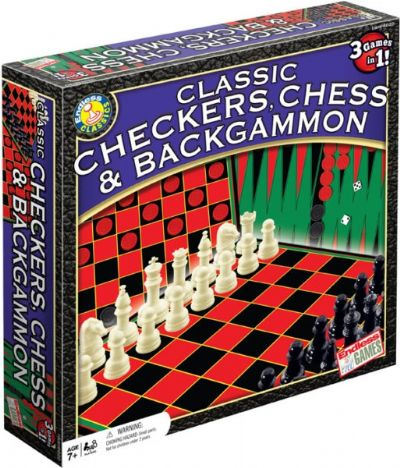 Classic Checkers Chess and Backgammon