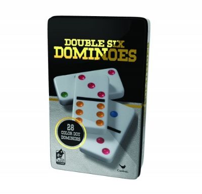 Double 6 Dominos In Tin