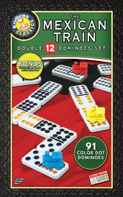Mexican Train Dominoes with Chicken Foot Rules